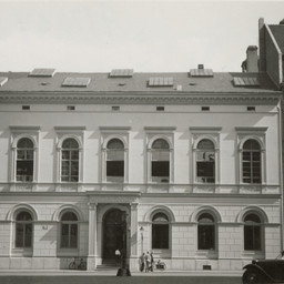 Mensa Ritterstraße von außen 30er Jahre, Stadtgeschichtliches Museum Leipzig
