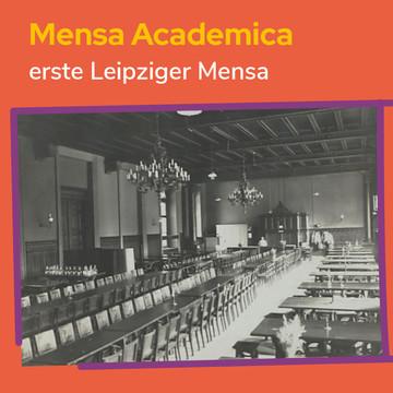 Mensa Academica: Erste Leipziger Mensa