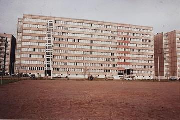 Außenansicht vom alten Wohnheim in der Tarostraße, Studentenwerk Leipzig