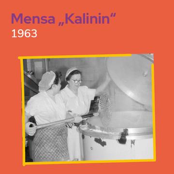 Mensa Klubhaus Kalinin, Leipzig 1963